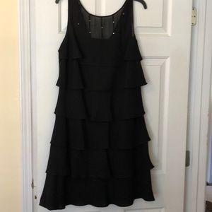 Black Evan Picone cocktail dress